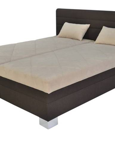 Polohovacia posteľ GLORIA hnedá/béžová, 180x200 cm
