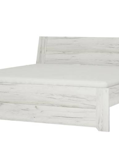 Posteľ ANGEL 91 dub craft biely, 140x200 cm