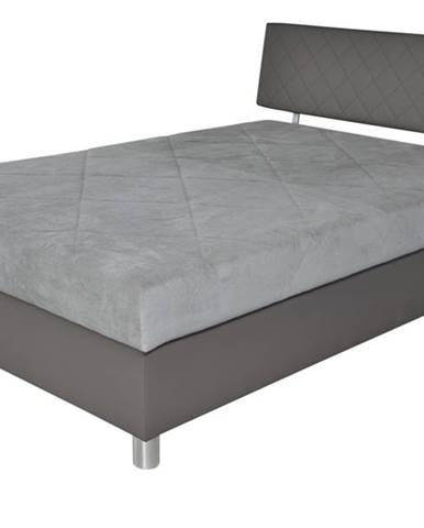 Posteľ MONZA hnedá/sivá, 140x200 cm