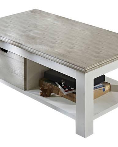 Konferenčný stolík LIMA 02 pínia/biela