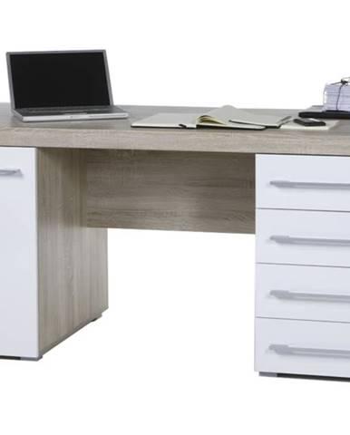 Písací stôl CUBE 39-002-68 dub sonoma/biela