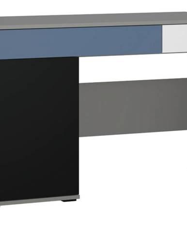 Písací stôl LASER modrá/sivá