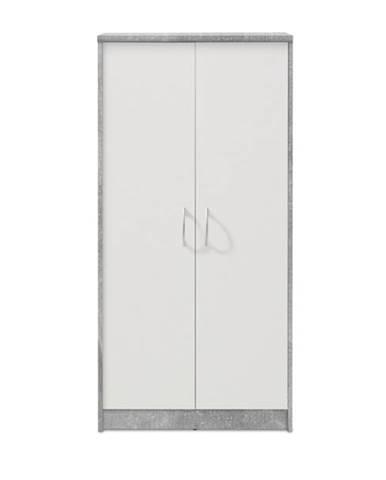 Skriňa OPTIMUS 70-001 beton/biela