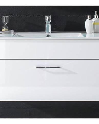 Umývadlová skrinka SPLASH biela vysoký lesk