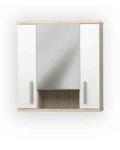 Zrkadlová skrinka LINDA LI01 dub sonoma/biela
