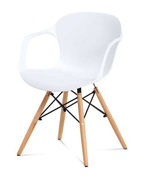 Sconto Jedálenská stolička DAGMAR biela/buk