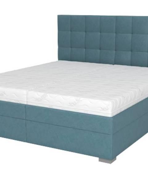 Sconto Posteľ DANA tyrkysová, 180x210 cm, s matracom