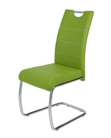 Jedálenská stolička FLORA S zelená, syntetická koža