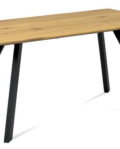 Jedálenský stôl ARON divoký dub/čierna
