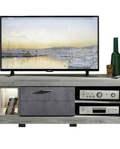 TV stolík PORTO dub/betón