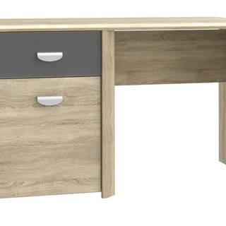 Písací stôl YOOP dub sonoma/antracit