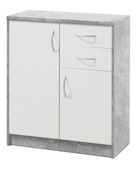 Sconto Komoda OPTIMUS 38-003 beton/biela