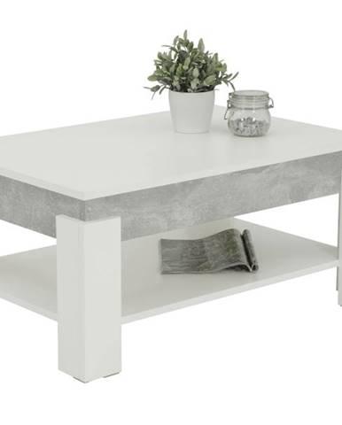 Konferenčný stolík THEO betón/biela