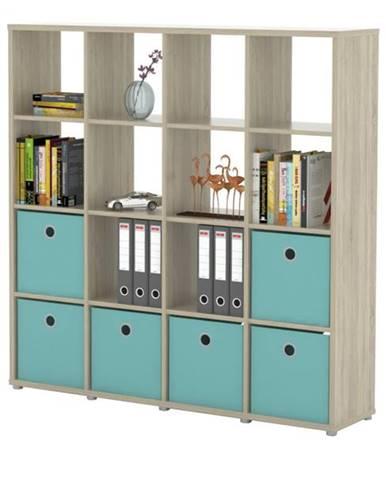 Regál/knižnica LITE RM44 dub sonoma