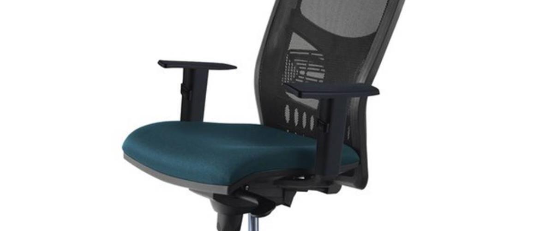 Kancelárske kreslo FOSS čierna/tyrkysová