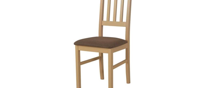 Jedálenská stolička BOLS dub sonoma/hnedá
