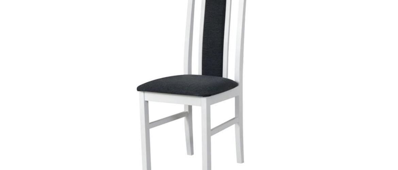 Jedálenská stolička NILA 2 tmavosivá/biela